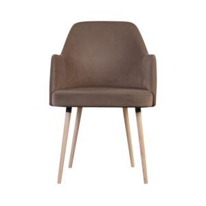 fotel brązowy tapicerowany