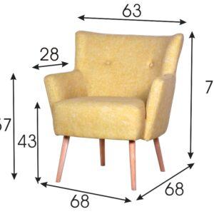 fotel do salonu żółty
