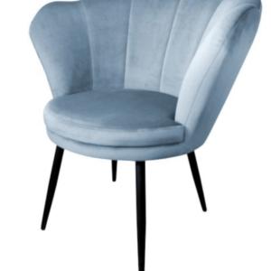 fotel muszelka błękitny