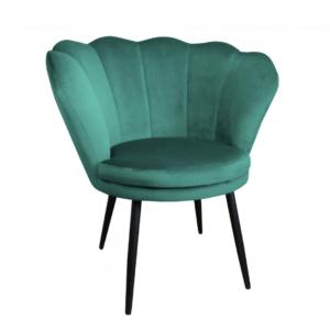 fotel muszelka zielony