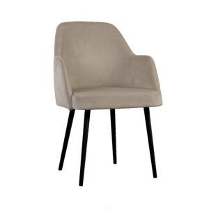 fotel tapicerowany brązowy