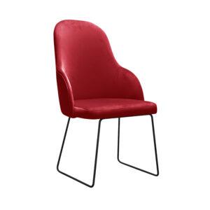 fotel tapicerowany czerwony