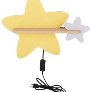 Kinkiet dziecięcy gwiazdka żółta