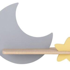 Kinkiet dziecięcy księżyc szary