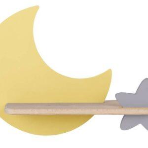Kinkiet dziecięcy księżyc żółty