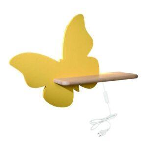 Kinkiet dziecięcy motyl złoty