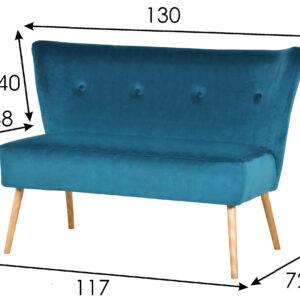 ławka do salonu niebieska