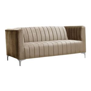 sofa welurowa beżowa