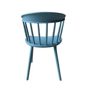 turkusowe krzesło plastikowe