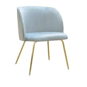 fotel tapicerowany błękitny