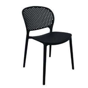 krzesło ażurowe czarne