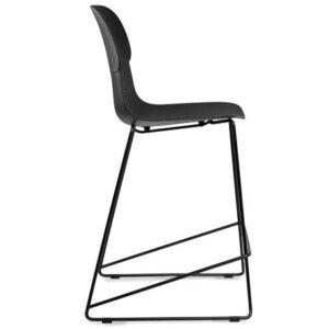 krzesło hokerowe czarne