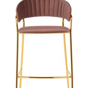 krzesło hokerowe różowe goma