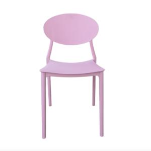 krzesło plastikowe różowe