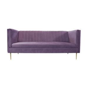 sofa welurowa fioletowa