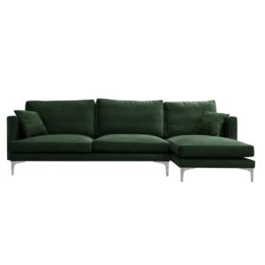 sofa narożna zielona