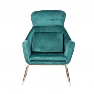 fotel do salonu zielony