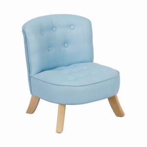 Fotelik dziecięcy błękitny Rabbit len
