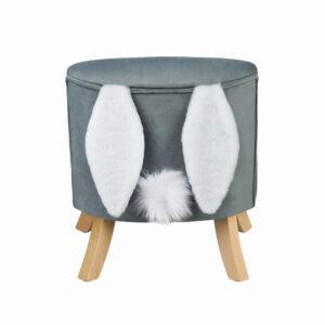 Fotelik dziecięcy szary Rabbit uszak