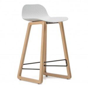 krzesło hokerowe białe