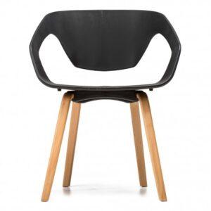 krzesło plastikowe czarne
