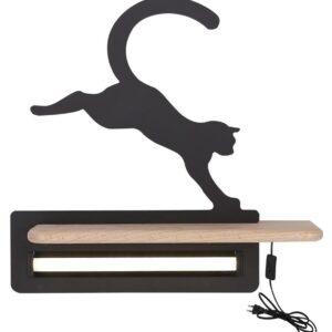 Kinkiet dziecięcy kot czarny II