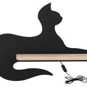 Kinkiet dziecięcy kot czarny