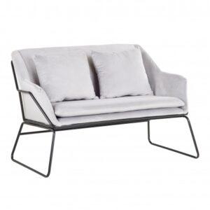 szara sofa welurowa