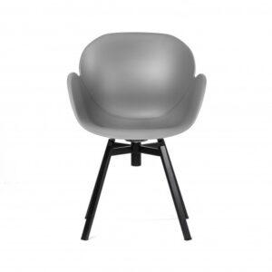 krzesło plastikowe szare